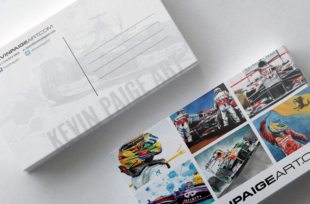 Kevin Paige Art Marketing Collateral - Postcard