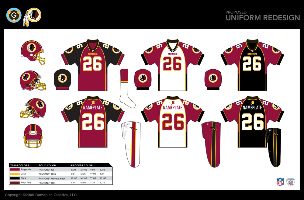 Washington Redskins - Uniform Design