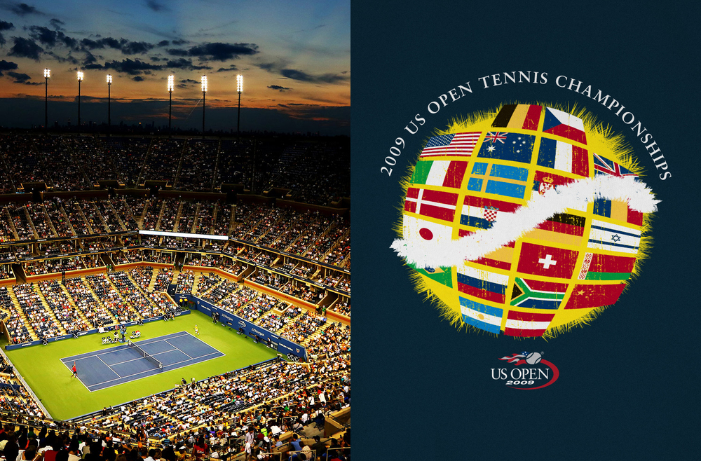 US Open - Spot Illustrations and Logo Design