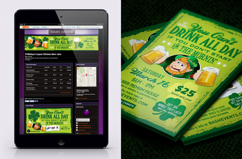 Bash Events - St. Patrick's Day Digital Banners and Print Flyers