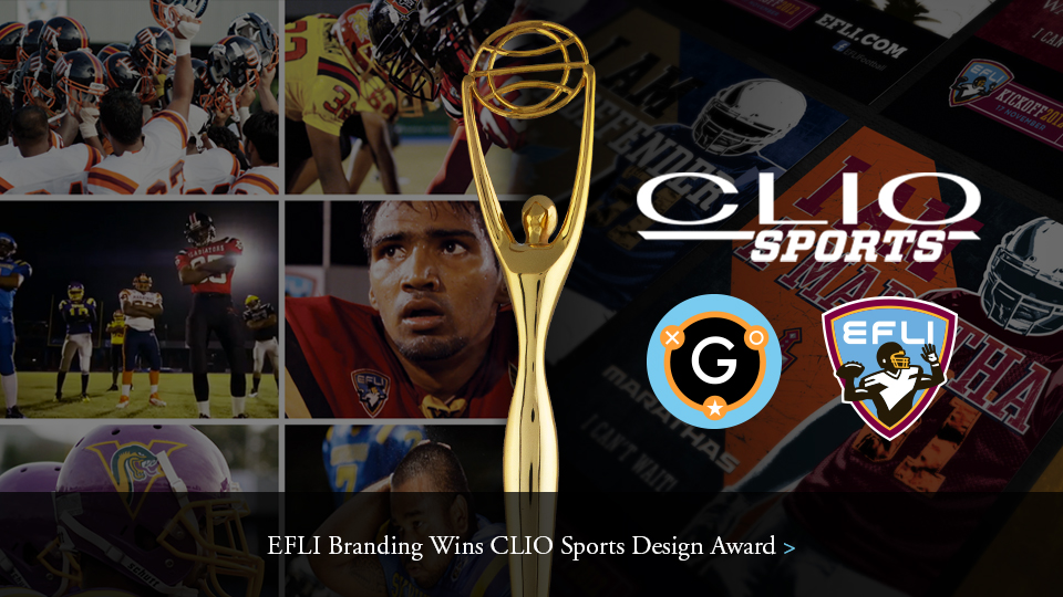 EFLI Branding Wins CLIO Sports Design Award