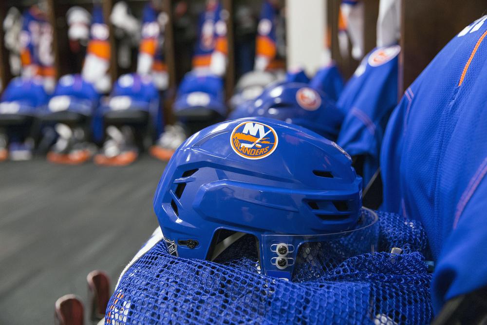 Helmet in Islanders Locker Room