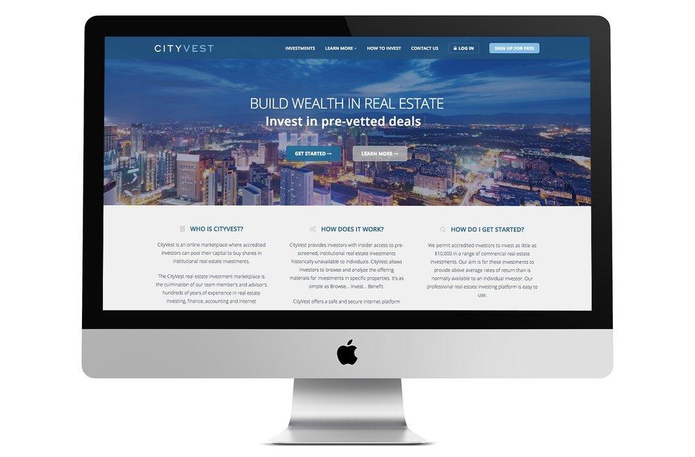 CityVest - Web Design Launch