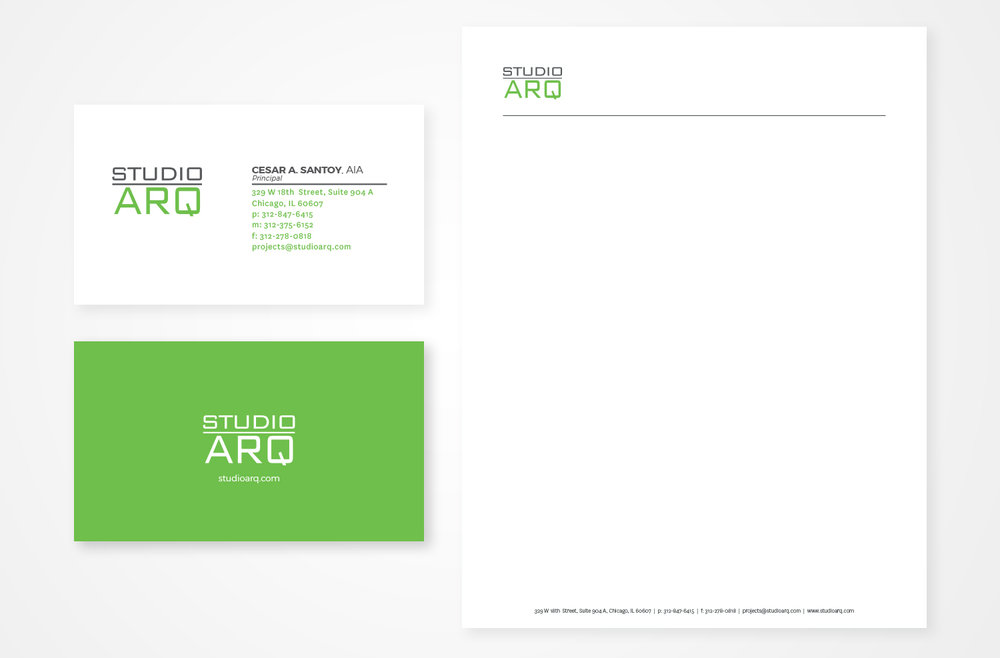 Studio ARQ Stationery Design