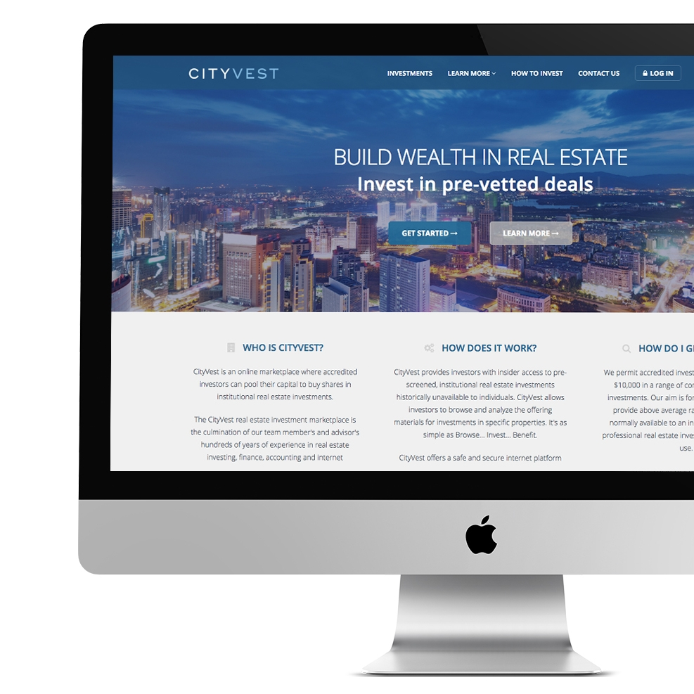 CITYVEST WEBSITE DESIGN