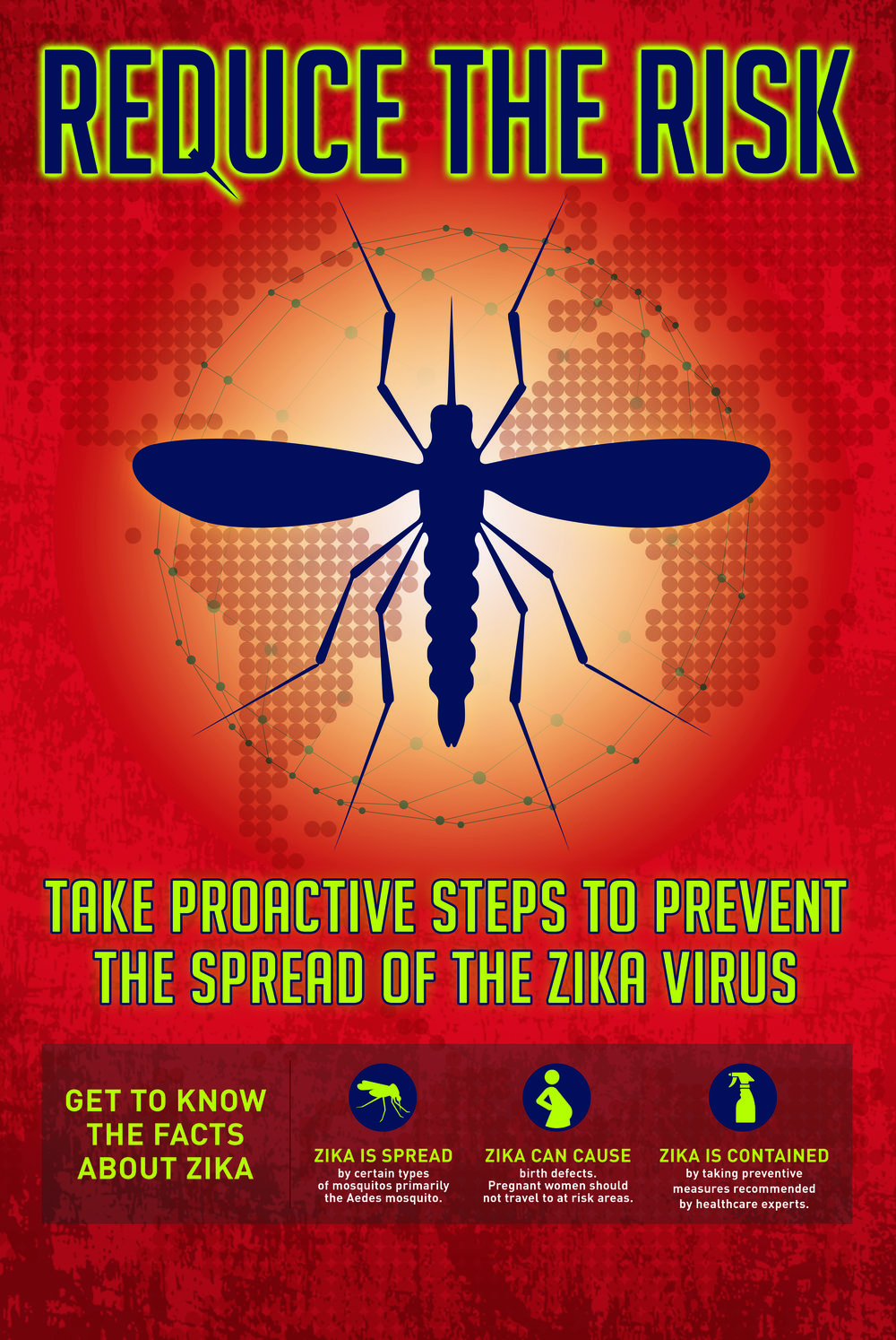 ZIKA: Reduce the Risk Poster