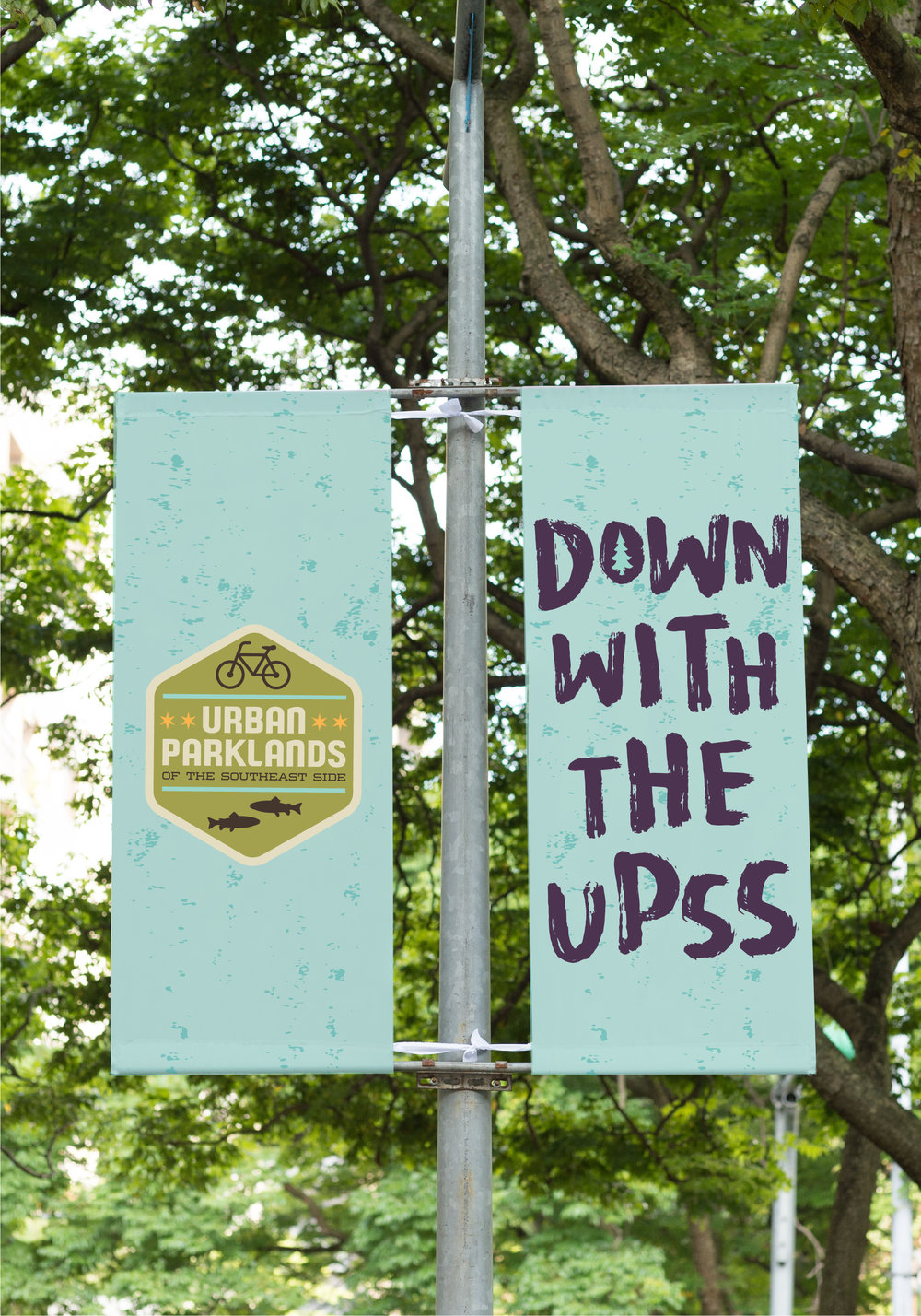 Chicago Park DistrictDown With The UPSS Park Sign