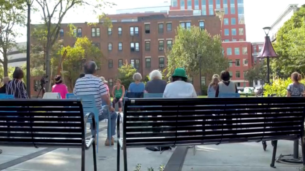 For the Chair Yoga Class video click here!  This video makes me smile from ear-to-ear!!!  This is just one of the reasons we enjoy designing public spaces and parks.