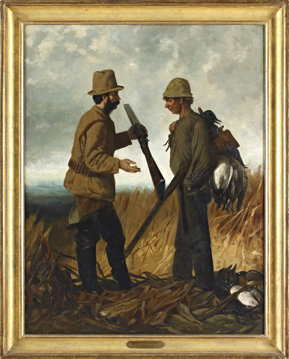 Lawrence Carmichael Earle (1845-1921),   Hunters, Old and New  , 1878, Oil on Canvas, Gift of Scott L. Probasco (Acc#1995.15).