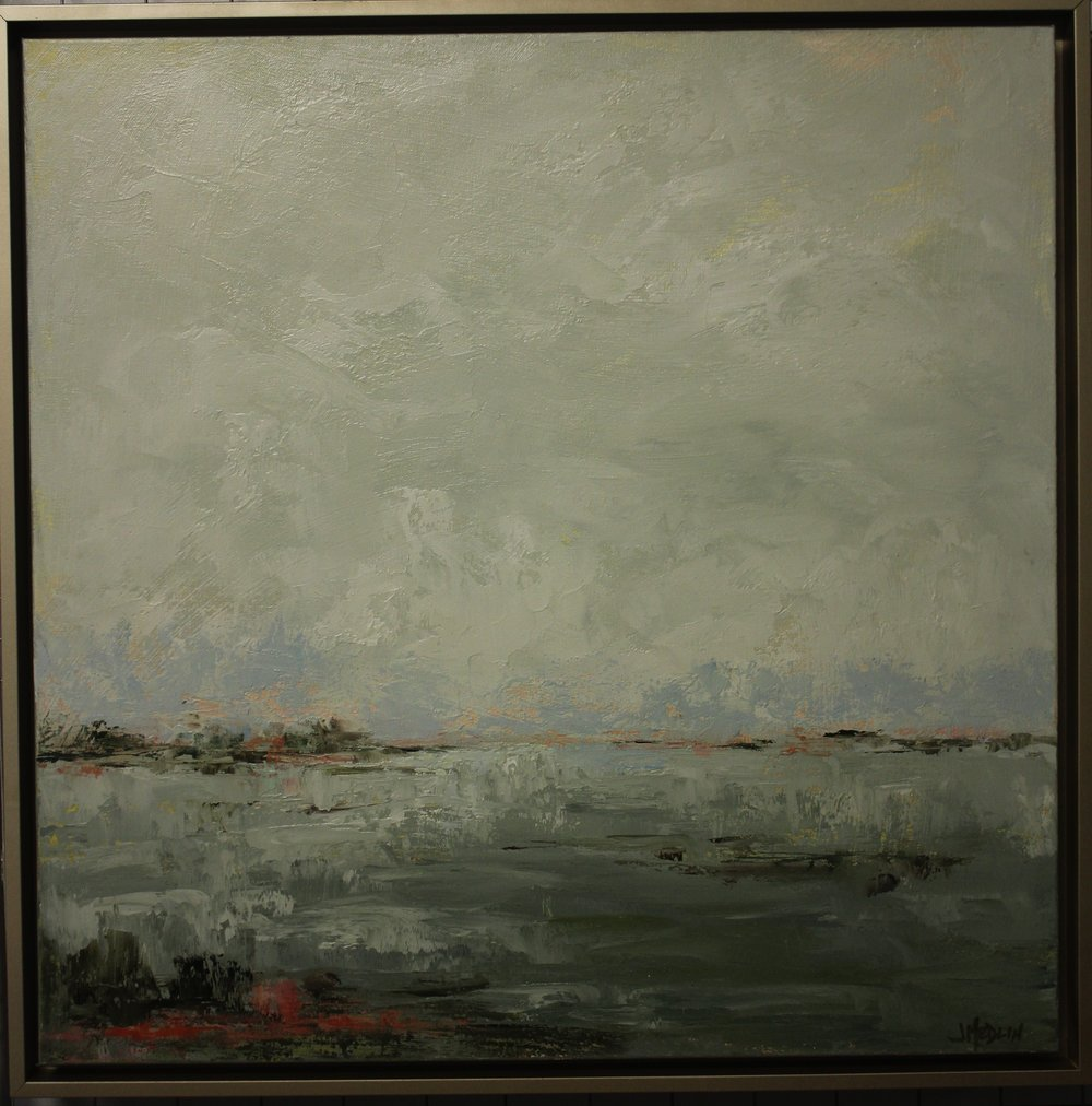 Item #109    Janine Medlin    Come Forward   Oil on Canvas, 24 x 24       Dilworth Artisan Station – Charlotte, NC   Opening Bid $850    Minimum Raise $25         Janine Medlin   Janine is learning to see into the mystery of beauty and wildness that comes through creation and reflect an aspect of it on canvas.  She invites the viewer into the common experience of the subject and offers her interpretation of what lays beyond what is seen.  What she hopes to convey is that something that wakens in our soul when we stand in awe in the midst of a stand of Aspens, or the vastness and serenity of a wide-open stretch of land.  What we see in nature is just the beginning; it is what comes through the trees or the land that makes our hearts come alive