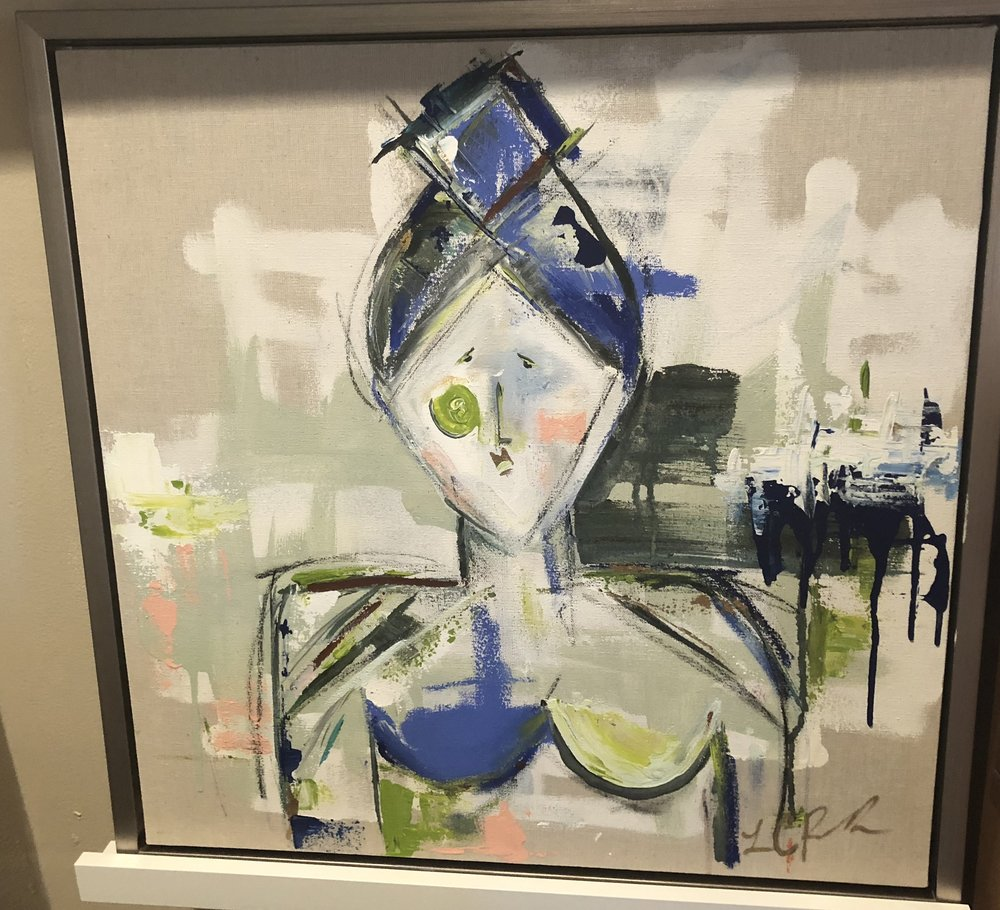 Item #117    Lauren Reddick    The Blues   Mixed Media, 20 x 20       Art House Charlotte – Charlotte, NC   Opening Bid $550    Minimum Raise $25