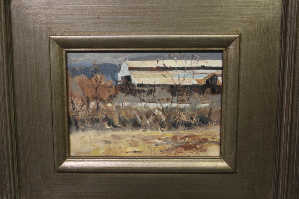 Item #131    Victoria Peamain    Cold Steel   Oil on Panel, 13 x 11       River Gallery – Chattanooga, TN   Opening Bid $325    Minimum Raise $25       Victoria Pearmain  is primarily a plein air painter, working in oil on canvas, paper and panels in a painterly style. She has been influenced by many of the American and European landscape painters, including Corot, Daubigny, Monet as well as William Merritt Chase, Edward W. Redfield and many others.     Victoria's subjects include many scenes in and around Chattanooga, TN such as Chester Frost Park, the Tennessee River, and the Chickamauga Battlefield.