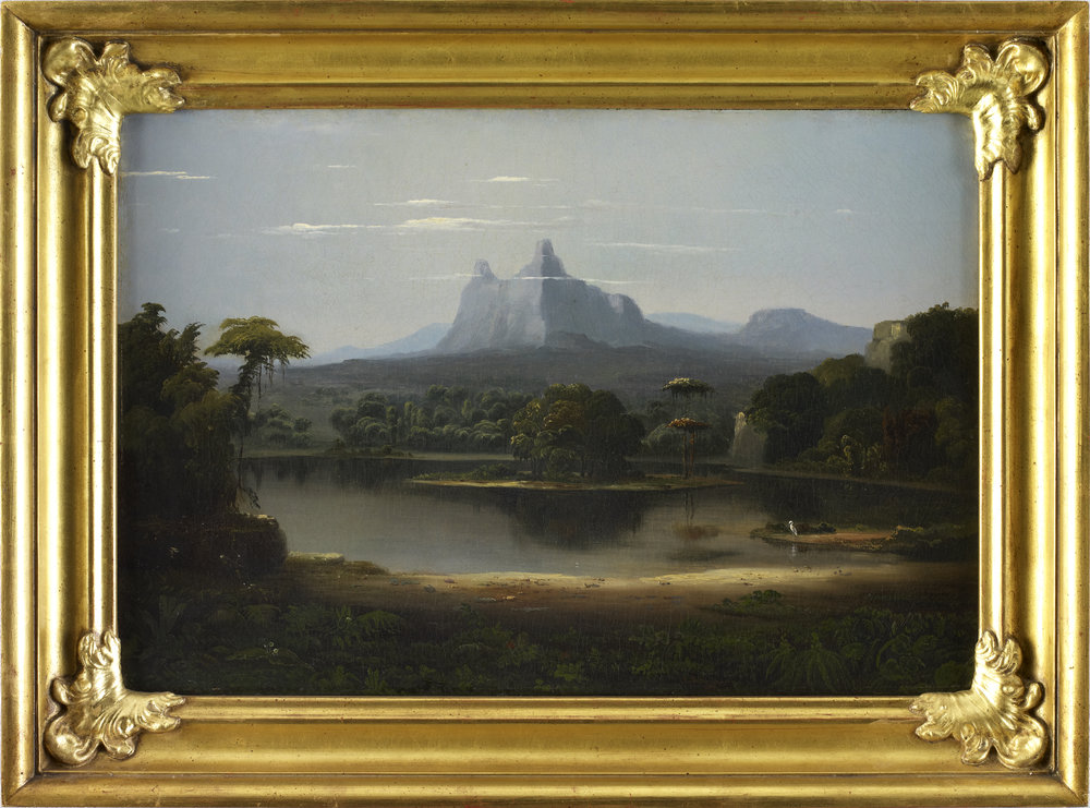Robert Seldon Duncanson (1821-1872), Landscape, 1851, Oil on Canvas, Museum Purchase]