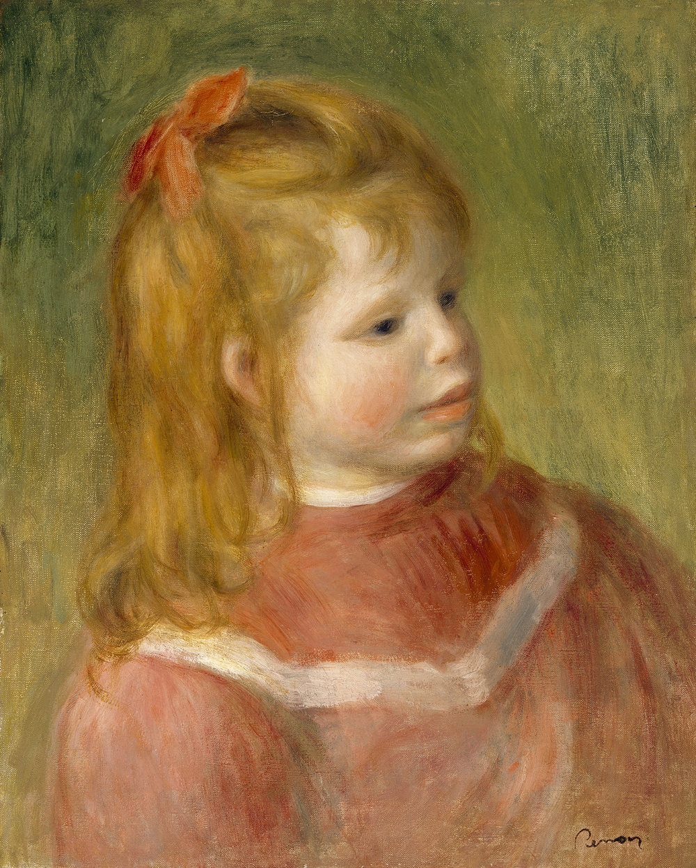Pierre‐Auguste Renoir,  Portrait of Jean , 1987, Oil on canvas, The Museum of Fine Arts, Houston, Gift of Isaac and Agnes Cullen Arnold, 68.55