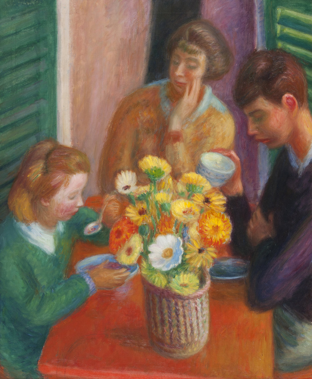 William J. Glackens,  Breakfast Porch , 1925, Oil on canvas, NSU Art Museum Fort Lauderdale; gift of the Sansom Foundation