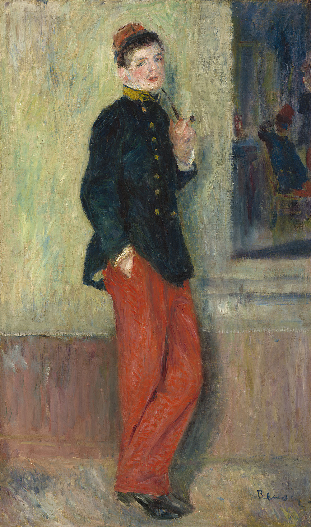Pierre-Auguste Renoir,  The Young Soldier (Le jeune militaire) , c. 1880, oil on canvas, National Gallery of Art, Washington, Collection of Mr. and Mrs. Paul Mellon, 2014.18.46