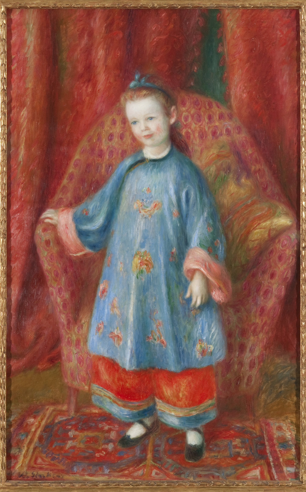 William J. Glackens,  Artist's Daughter in Chinese Costume , 1918, oil on canvas, NSU Art Museum Fort Lauderdale; gift of the Sansom Foundation