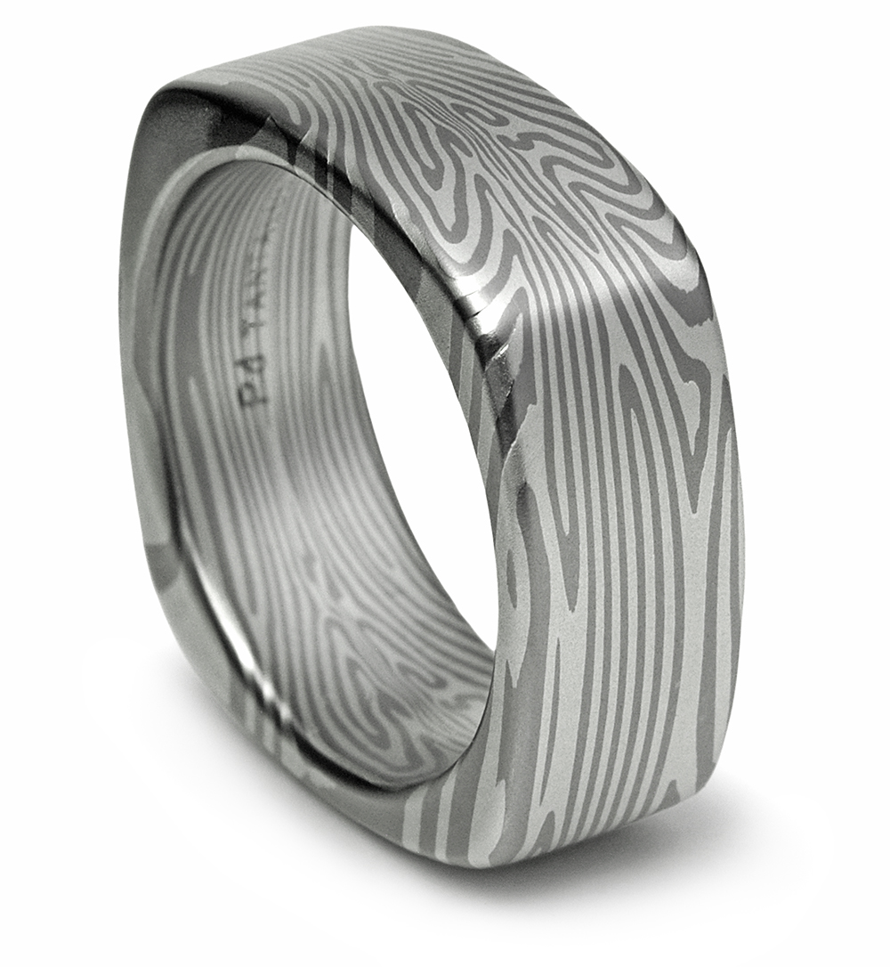 Square Wedding Band - Palladium and Tantalum