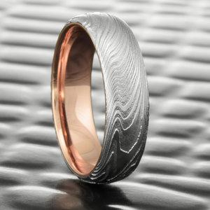 Damascus Steel And Mokume Gane Wedding Rings Steven Jacob
