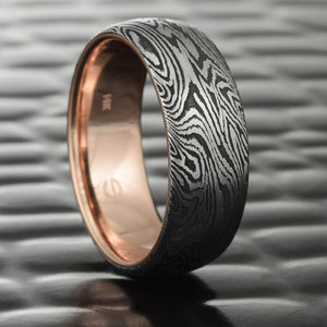Damascus Steel And Mokume Gane Wedding Rings Steven Jacob