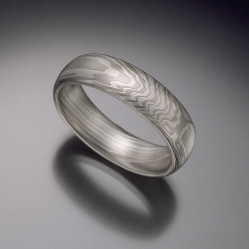 ring rings wedding gane mokume ash