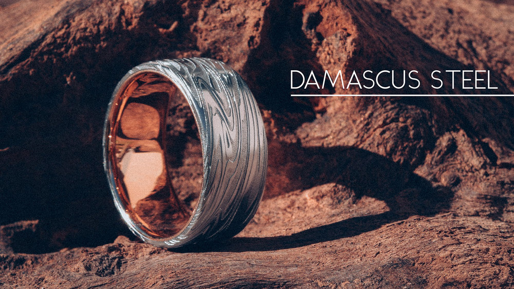 Damascus-Steel-Rings