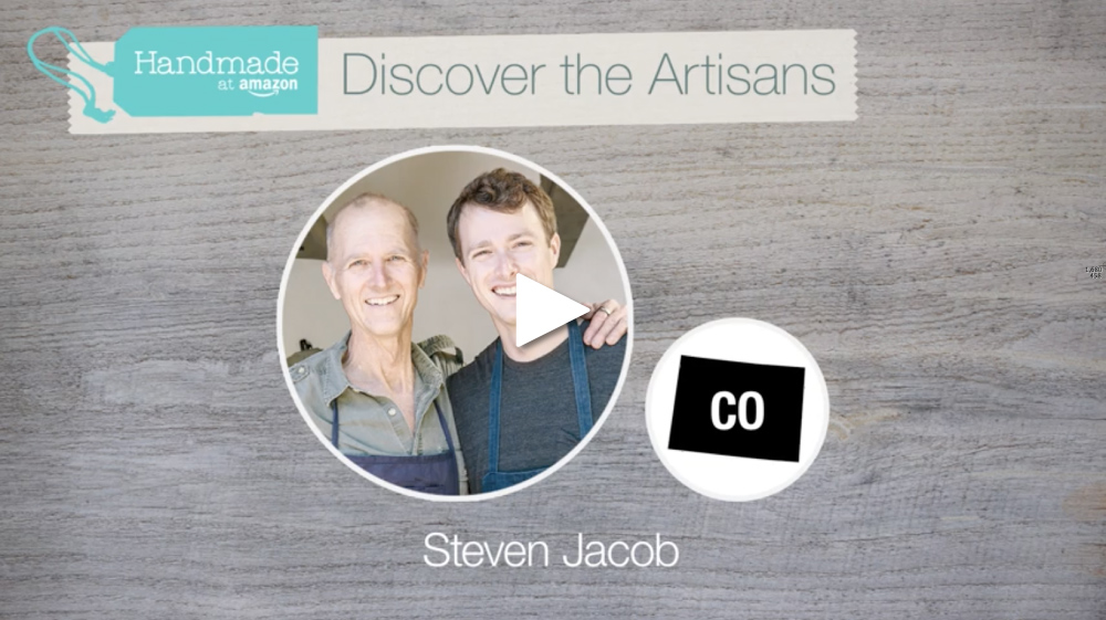 STEVEN JACOB selected as a Featured Artisan on Amazon Handmade.   Click to watch.
