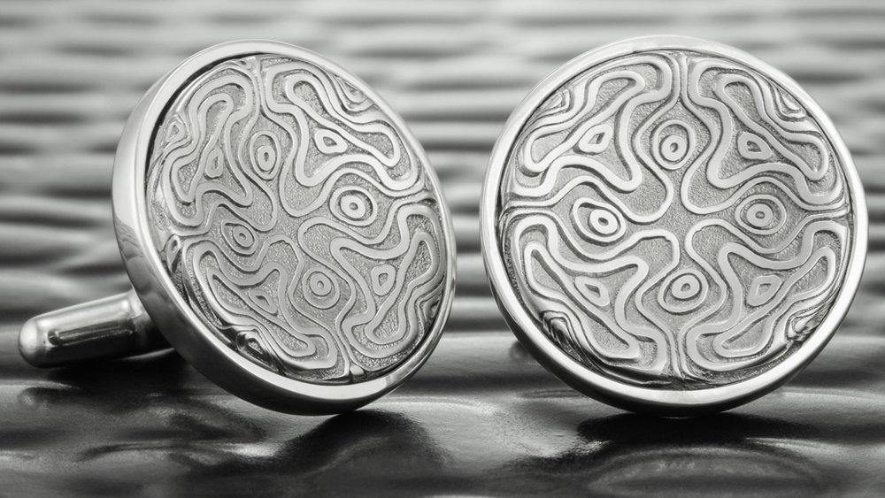 Custom Damascus Steel Cufflinks