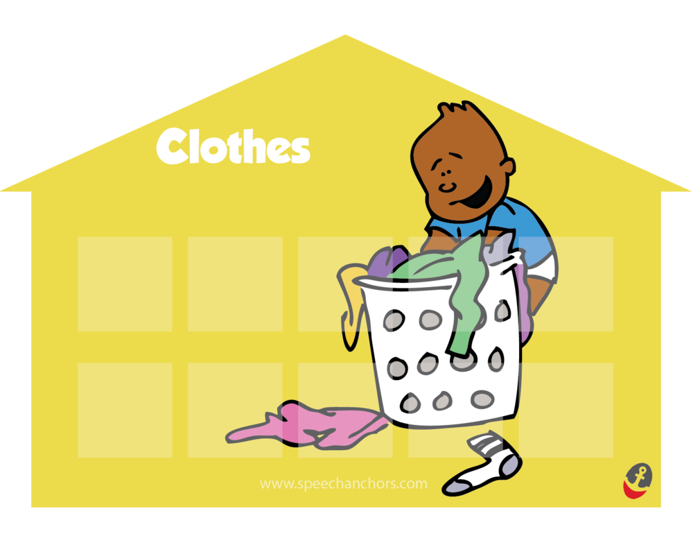 "Here is an example of the house representing the ""Clothes"" category."
