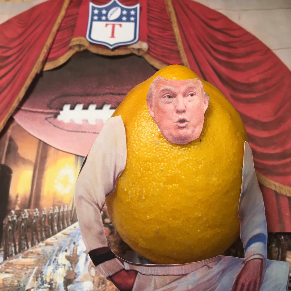 """2.13.17 Palm Off.... """"Come get your $200K box seats to the Winter White House. Enjoy golfing, weddings, national-security dinner theater, and nuclear football."""" #Lemonlaw#Squeezethelemon#Zesty#DivestDonald"""