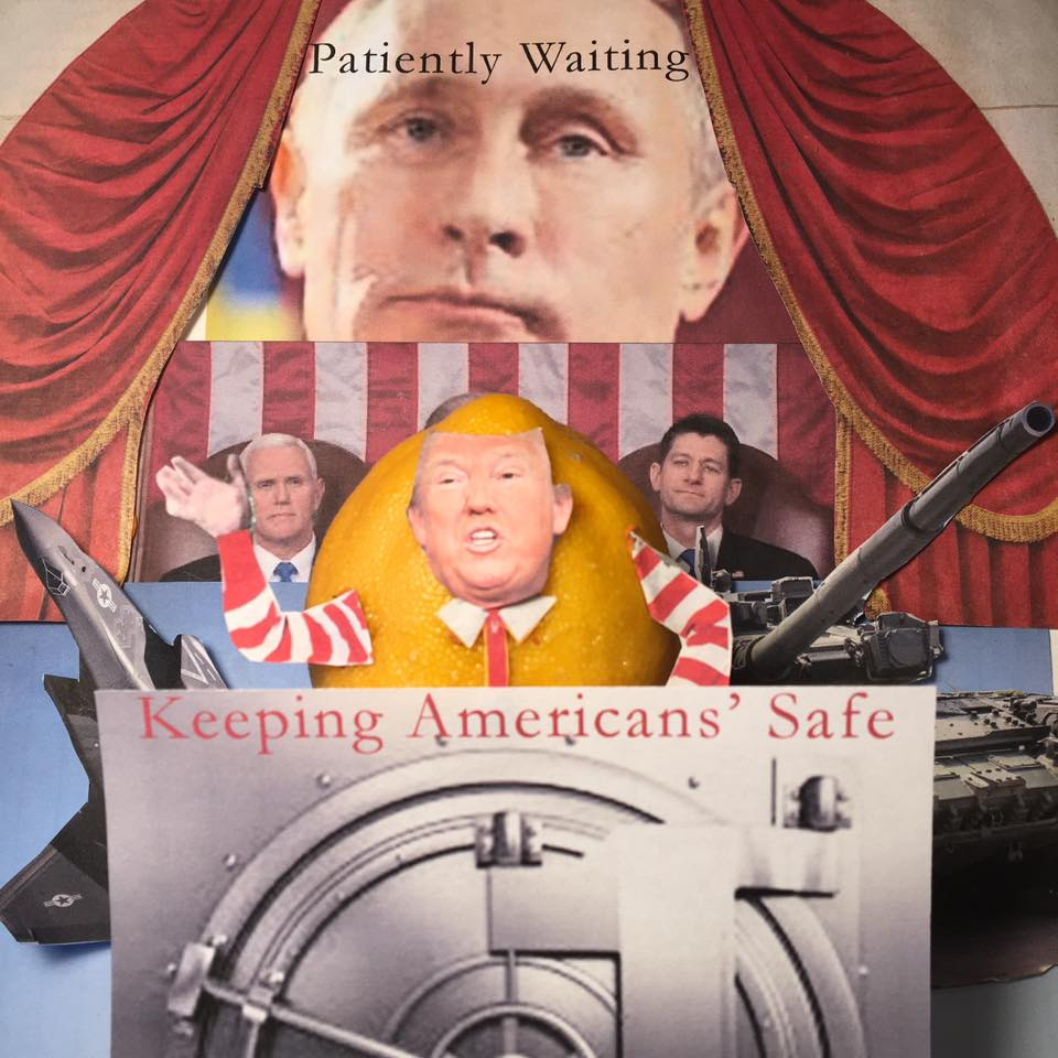 """3.1.17 Pay No Attention to the Man Behind the Irony Curtain... """"We should outlaw teleprompters…for anybody running for president"""" #Lemonlaw#Squeezethelemon#Zesty#DivestDonald"""