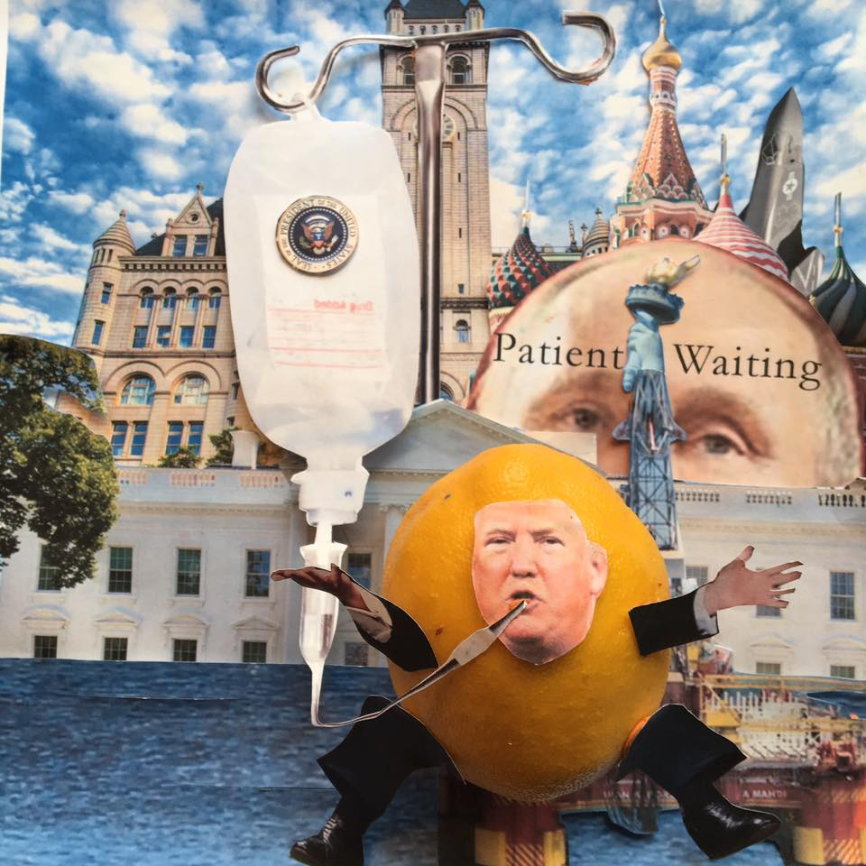 """3.10.17 Donald's Oligarch Act (aka DOA)... """"Don't call it 'Trumpcare'! Trumpcare™ is already taken. A registered trademark for my Matryroshka corporation to funnel foreign-government emoluments to me. Also a licensed massage parlor and escort service in China."""" #Lemonlaw#Squeezethelemon#Zesty#DivestDonald"""