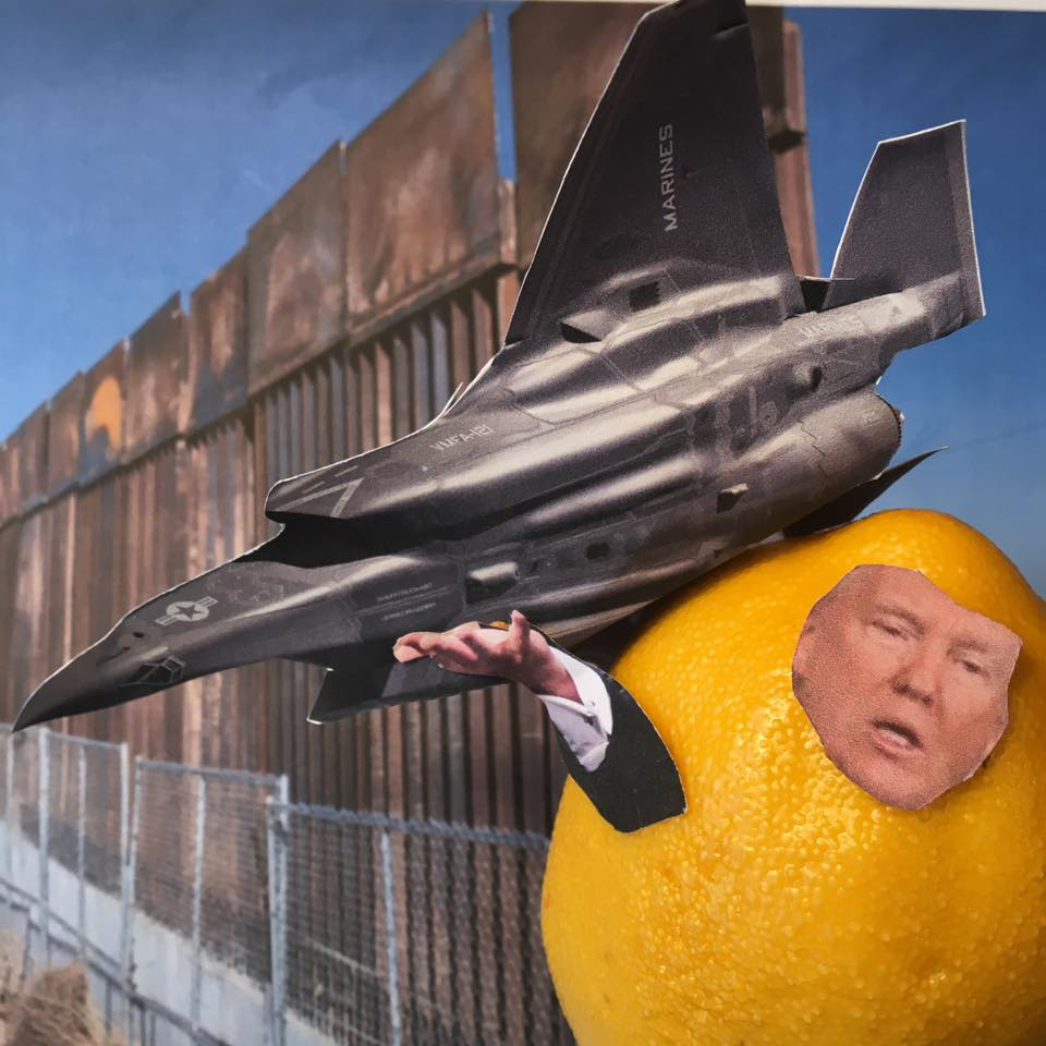 """4.26.17  Impalatable Lemon Verbatim... """"I think $10 billion or less. And if I do a super-duper, higher, better, better security, everything else, maybe it goes a little bit more. But it's not going to be anywhere near kind of numbers. And they're using those numbers; they're using the high numbers to make it sound impalatable. And the fact it's going to cost much less money, just like the airplane I told you about, which I hope you can write about."""" #LemonLaw"""
