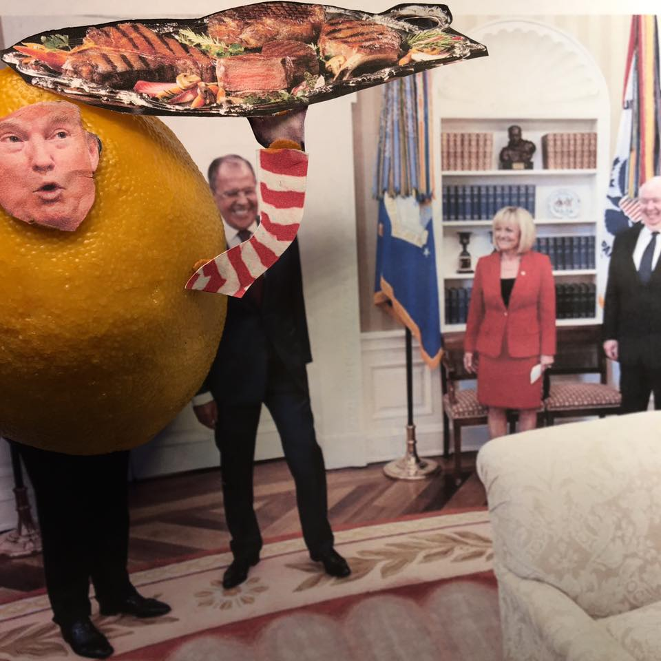 """5.15.17 Intelligence… """"I get great intel. I have people brief me on great intel every day. I feed it to Russian agents in the oval office. I shit you not!"""" #LemonLaw#DivestDonald"""