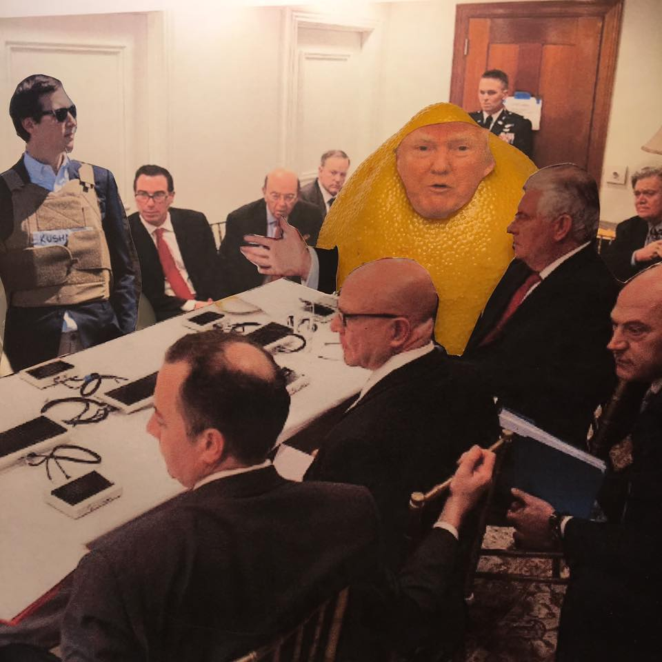 "5.27.17 Back to Flak... ""We're going to build a War Room in the White House to combat all the BAD press. I'm putting Jared in charge."" #LemonLaw #DivestDonald"
