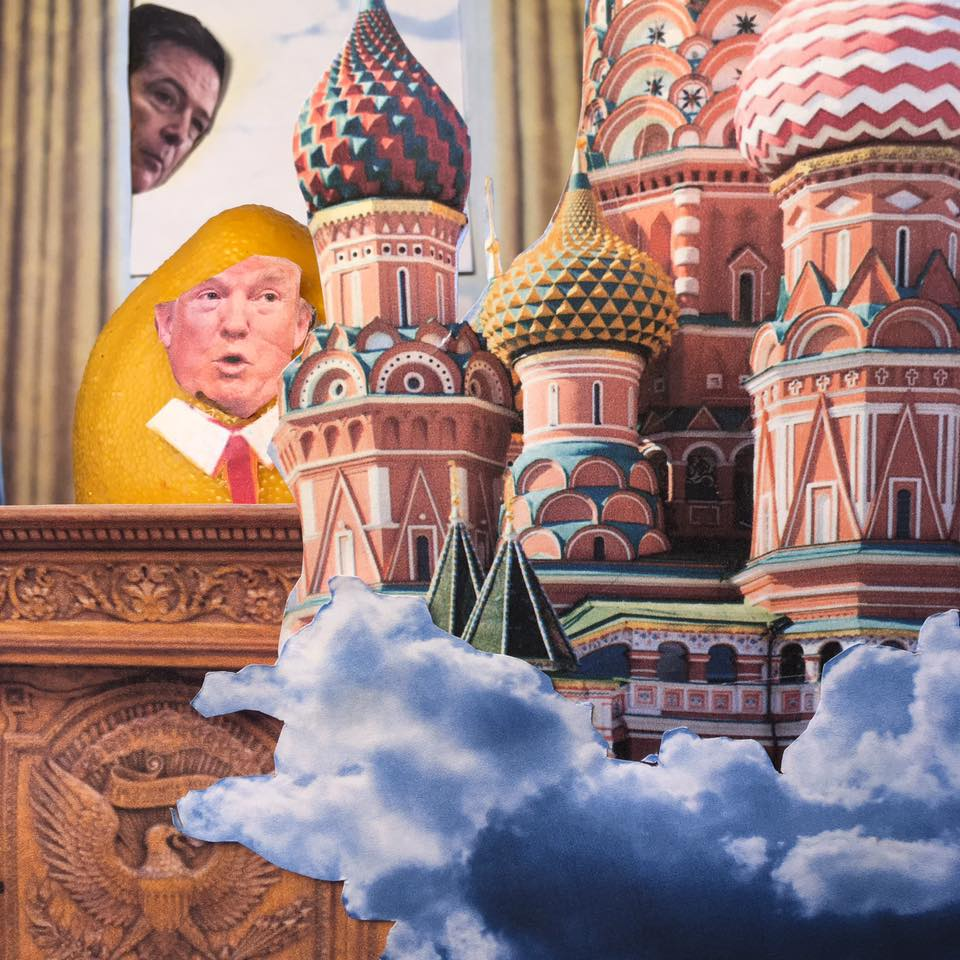 """6.7.17  Cloudy with a Chance of Obstruction… """"The Russian investigation is 'a cloud' that is impairing my ability to act on behalf of the country. I had nothing to do with Russia. I was not involved with hookers in Russia, I always assume that I am being recorded in Russia. You're not taking notes, are you, Comey?"""" #LemonLaw"""