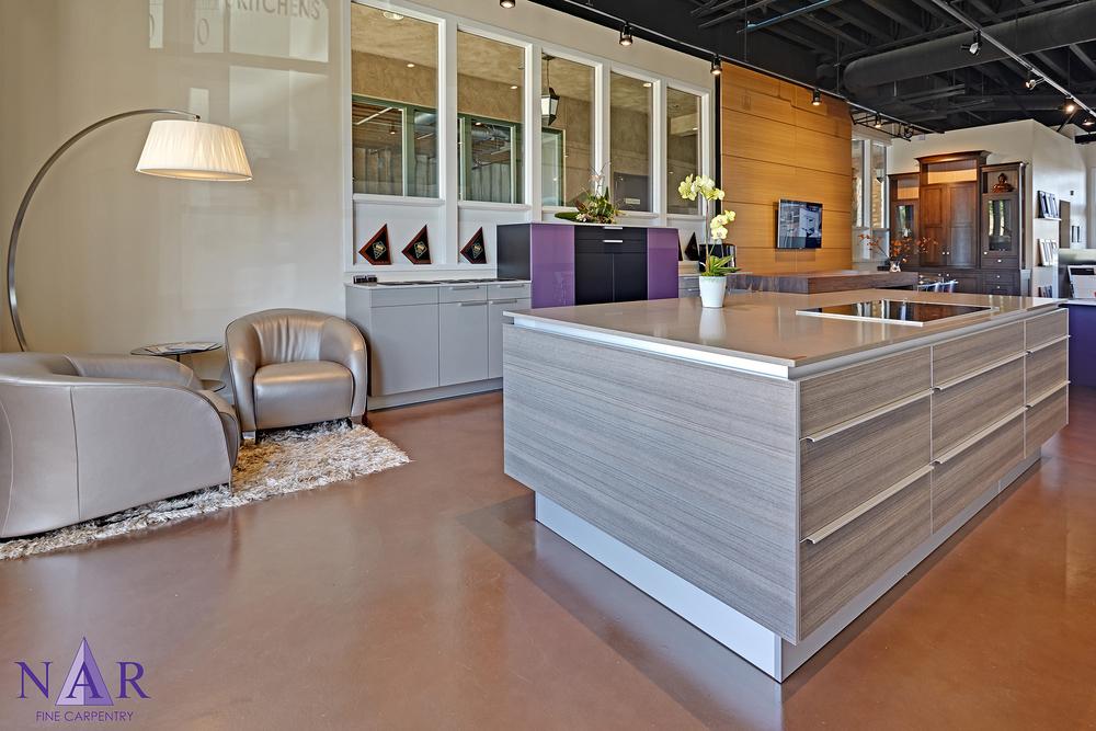 El Dorado Hills Showroom. Nar Fine Carpentry.Sacramento. El Dorado Hills