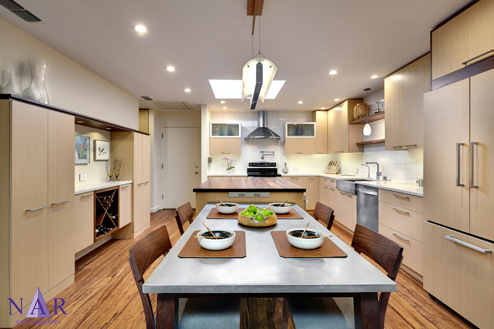 South Land Park Open Plan. Nar Fine Carpentry.Sacramento. El Dorado Hills
