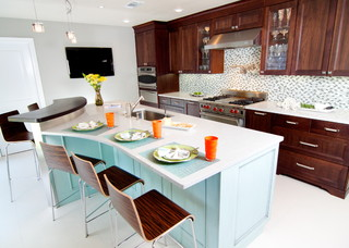 eclectic kitchen design   by   other metros kitchen and bath     Cheryl Kees Clendenon: In Detail