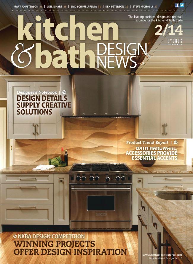 """Kitchen & Bath Design News Magazine Article: """"Design Finalists Create Statement Rooms"""", 2/2014"""