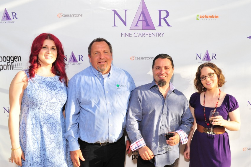 Buzz of Crystal Cabinetry with some of the NFC crew.