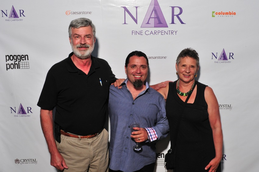 Nar Bustamante of Nar Fine Carpentry with past clients, Hank & Lori.