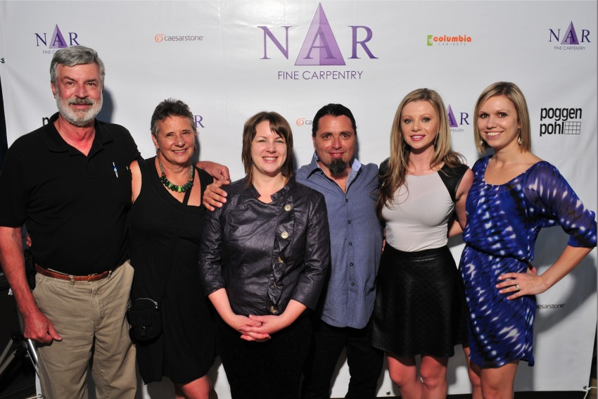 From left: Hank & Lori, Nicolette Patton CKD of NFC, Nar Bustamante of NFC, Victoria of Medimer Marble & Tanya