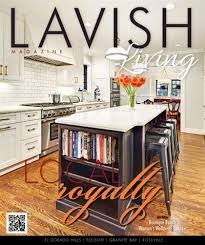 """Lavish Living Magazine Cover & Article: """"Local Royalty"""" by Kelsey Wehsels, 10/2014"""