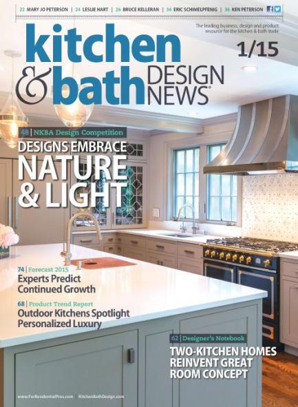 "Kitchen& Bath Design News Magazine Article: ""Classic Kitchen Gets Contemporary Twist"", 1/2015"