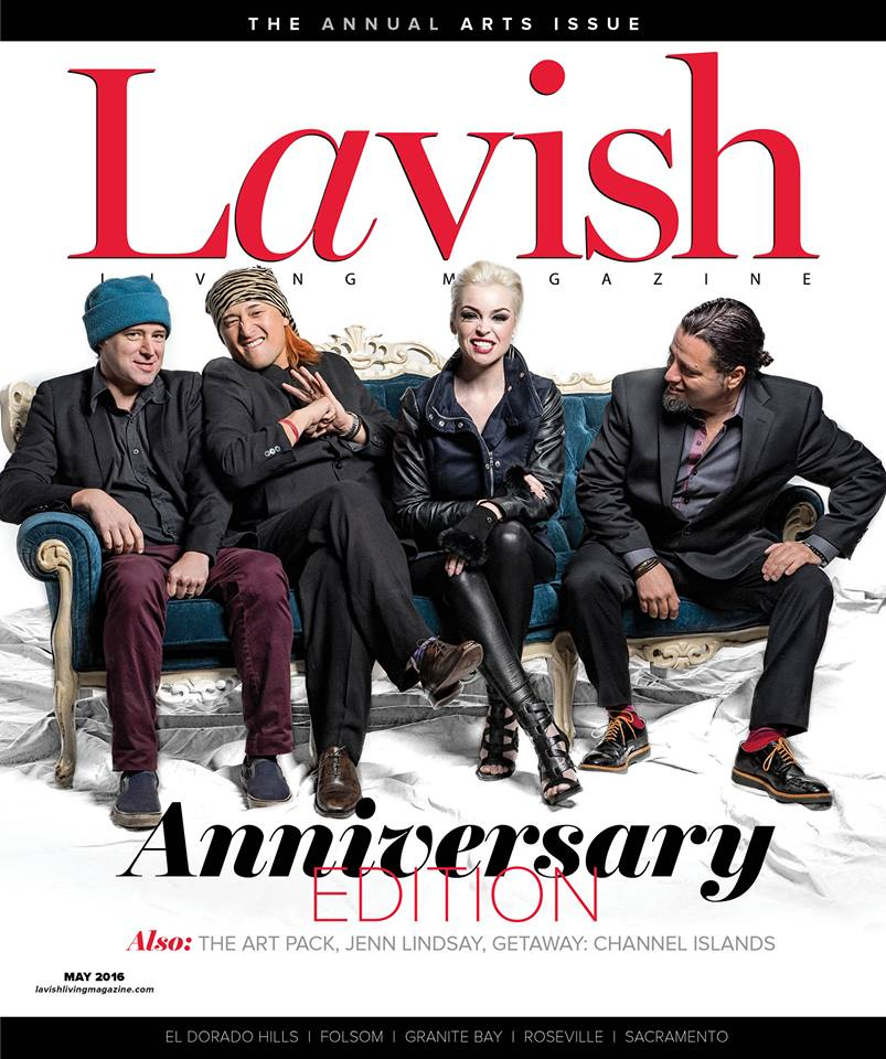 "Lavish Living Magazine, Cover & Featured Article: ""The Art Pack- Nar Bustamante, Taro Arai, Gabriel Nelson, Shasta Smith"" pg 45-46 5/2016"