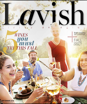 """Lavish Living Magazine, featured project """"Sail Away to a Backyard Oasis, pg 29-32 9/2016"""