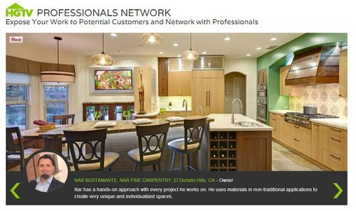 HGTV Professionals Network Website Main Page Featured Profile, 3/2014
