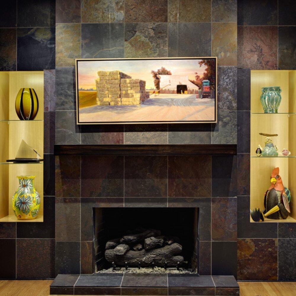 Davis Bistro Fireplace . Nar Fine Carpentry . Sacramento . El Dorado Hills