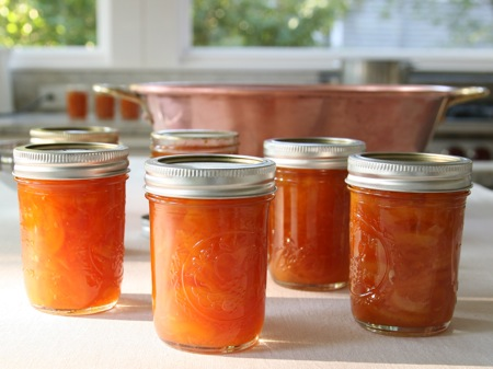 Peach orange preserves